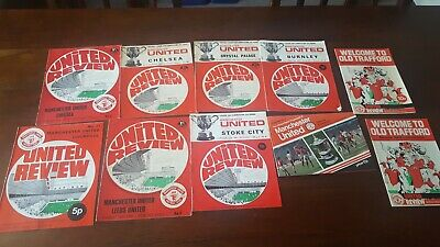 £1 • Buy Collection Manchester United Home Programmes 1970's