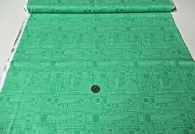$8.77 • Buy Michael Miller Quilt-craft Fabric CIRCUIT BOARD Green 2 Yds (dc-9722) SALEpc