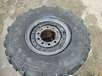 $100 • Buy (4) Michelin 395/85R20 XML Tires And 10 Lug Wheels Inflation Military
