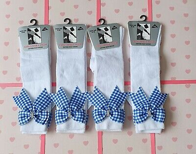 £3 • Buy Girls Knee High Socks With Bows