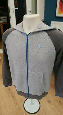 £8.99 • Buy Fred Perry Hoodie Original Full Zip Cotton Grey Youth L100% UK MANUFACTURED