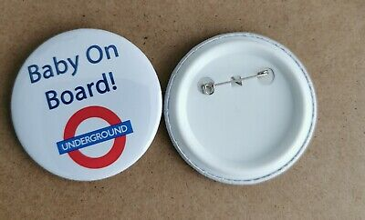 £2.49 • Buy Baby On Board Badge. 59mm Badge With Metal Pin.