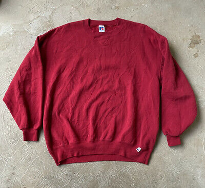 $22 • Buy Vintage Russell Athletic Crewneck Sweatshirt Sz 2xl Good Condition Flaws Red