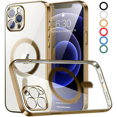 £7.49 • Buy For IPhone 13 12 Pro Max 11 Clear Phone Case Magnetic Mag Safe Charging Cover