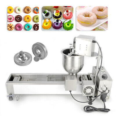 £785 • Buy Donut Maker Making Machine Wide Oil Tank 3 Sets Mold Commercial Automatic 220V