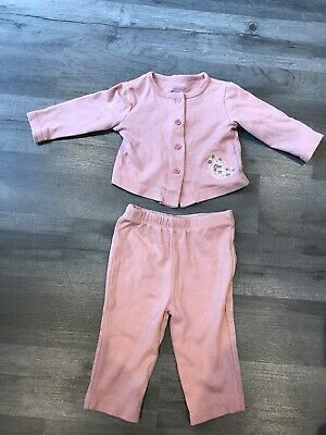 £1.10 • Buy Baby Girl Kyle & Deena Pink 2 Piece Outfit 0-3 Months