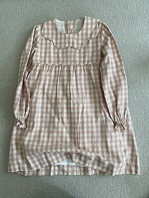 £15 • Buy La Coqueta Girls Pink Lined Checked Dress Age 6 Hardly Worn