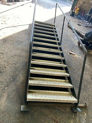 £475 • Buy Metal Access Staircase Floor Stairs 13 Steps Platform Portacabin Fire Escape