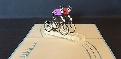 £2.95 • Buy 3D Pop Up Cycling Greeting Card(Birthday, Congrats, Get Well Any Occasions)