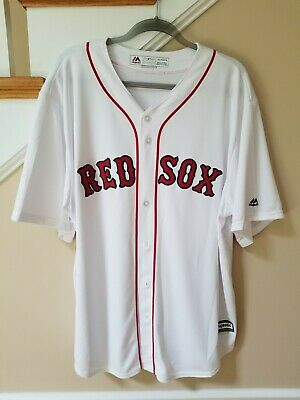 $20.90 • Buy NEW Boston Red Sox Mens XL Jersey Majestic MLB Home White Cool Base