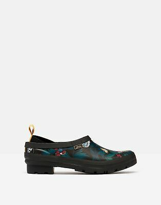 £9.95 • Buy Joules Womens Pop On Printed Welly Clogs - Black Butterfly - Adult 8