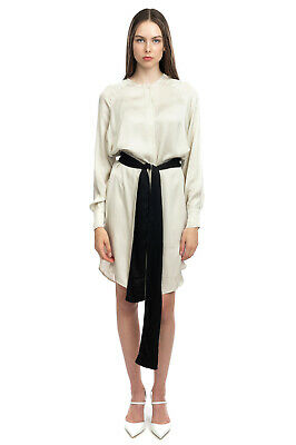 £10.99 • Buy 8PM Satin Shirt Dress Size XS Two Tone Split Sides Dipped Hem Made In Italy