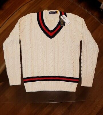 $12.50 • Buy NWT Polo Ralph Lauren The Iconic Cricket Sweater SMALL 70% Cotton 30% Cashmere