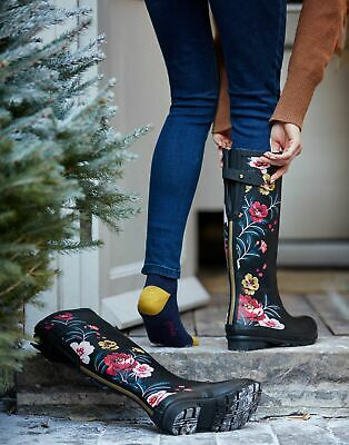 £9.95 • Buy Joules Womens Printed Wellies With Adjustable Back Gusset - Adult 5