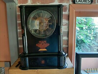 £60 • Buy Victorian Slate And Marble Mantel Clock