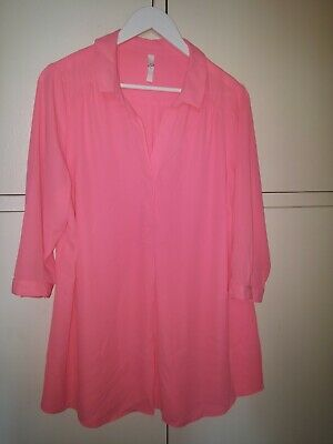 £3 • Buy Size 18 Bright Pink Blouse Top Shirt
