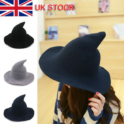 £6.96 • Buy Womens Halloween Witch Hat Modern Cosplay Costume Party Wide Brim Knitted Hat UK