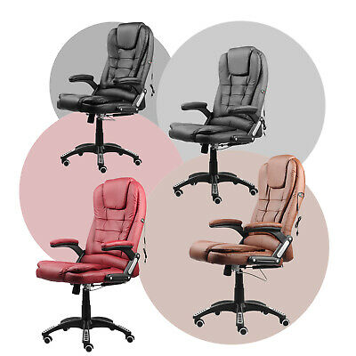 £99.45 • Buy Adjustable Height 2-Point Massage Chair Study Office Gaming Seat Soft PU Leather