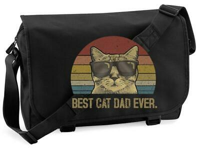 £15.99 • Buy Best Cat Dad Ever Pussy Kitty Cool Pet Animal Father's Day Messenger Bag