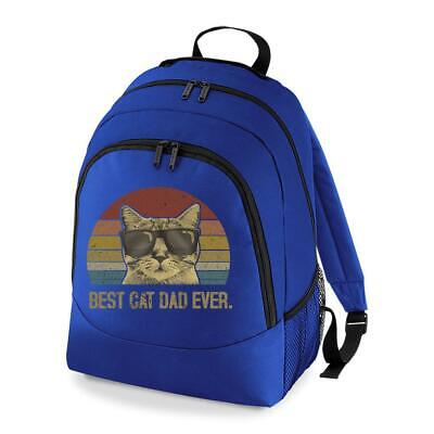 £15.99 • Buy Best Cat Dad Ever Pussy Kitty Cool Pet Animal Father's Day Backpack Bag