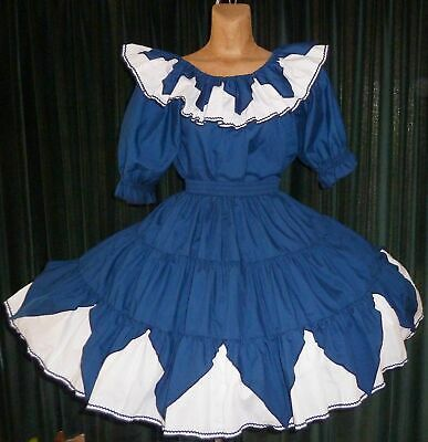 $24.50 • Buy Navy & White 2pc Square Dance Outfit Dress- Medium/Large - Bust 48  W28-42  L23