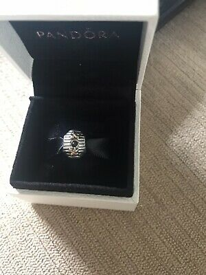 £45 • Buy Genuine Pandora Rare Beehive Charm , Two Tone 925 With 14ct Gold Detail.