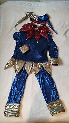 $37.53 • Buy Mens Court Jester Extra Large 3 Piece Adult Costume Clown Fancy Dress Up Outfit