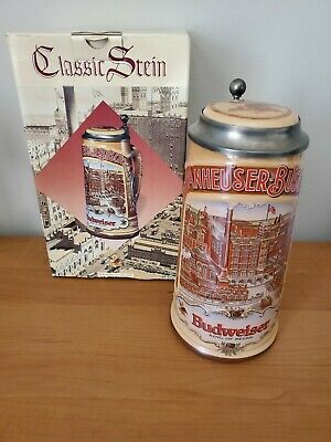 $ CDN16.61 • Buy 1988 Anheuser-Busch Lidded Beer Stein - Classic Collection W Germany - Budweiser