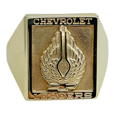 $1289.97 • Buy 1960s Chevrolet Leaders Employee Winged Bow Tie 10k Yellow Gold Mens Ring 10.5