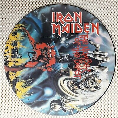 £36 • Buy IRON MAIDEN - THE NUMBER OF THE BEAST 12  Vinyl PICTURE Disc In NR MINT
