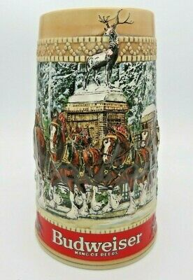 $ CDN18.71 • Buy 1987 Budweiser Clydesdale Collector Holiday Beer Stein  C  Series Anheuser Busch