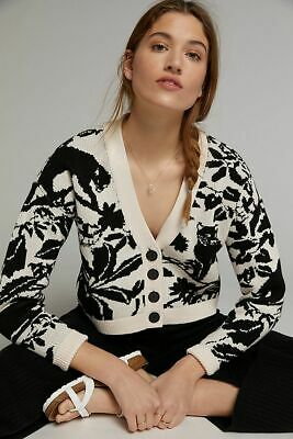 $ CDN144.20 • Buy Anthropologie Maeve Panther Cardigan Size L New Nwt