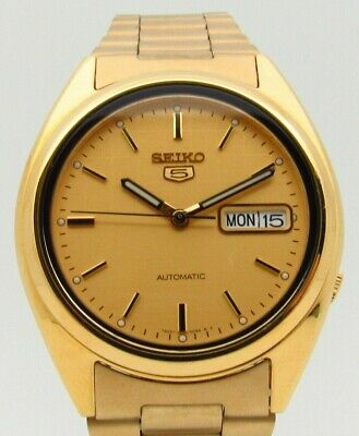 $ CDN137.32 • Buy Seiko 5 Automatic SNXL72 Men's Watch With Gold Stainless Steel Strap