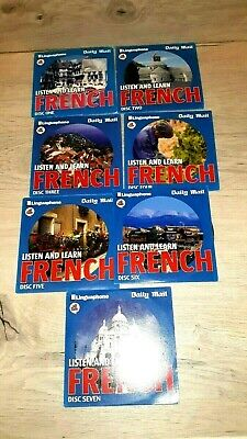 £12.99 • Buy Linguaphone All Talk Daily Mail Listen And Learn French Full Set 7 CDs