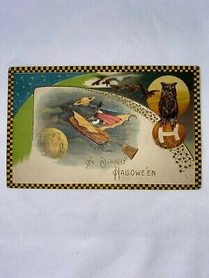 $ CDN27.86 • Buy Antique Vintage Halloween - A Starry Halloween Postcard From The Early 1900's.