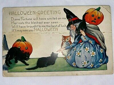$ CDN7.46 • Buy Antique Vintage Halloween – Halloween Greeting Postcard From The Early 1900's.