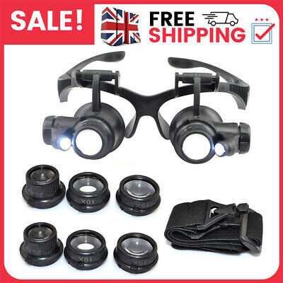 £9.99 • Buy 25X Magnifying Eye Glass Watch Repair Magnifier Jeweler Loupe Kit W/LED Light A+