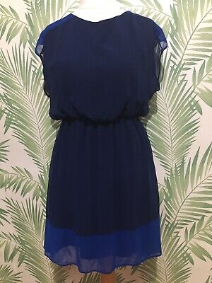 £4.99 • Buy Two Tone Blue Layered Dress, Lined. Size 14