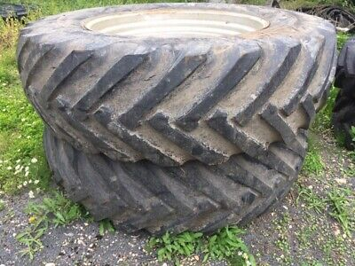 £1495 • Buy SET 4 TRACTOR TYRES ON RIMS FOR CASE MX150/170,Front 16.9 X R30,REAR 20.8 X R42