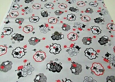 $10.77 • Buy Michael Miller Quilt-craft Fabric KNIT TOGETHER Gray 2 Yds (cx-9549) Fun Sheep!