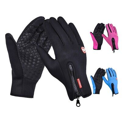 £7.99 • Buy Men Women Outdoor Warm Insulated Gloves Thermal Riding Skiing Waterproof Gloves