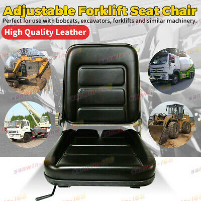AU63.12 • Buy Forklift Seat Chair Adjustable Leather Bobcat Tractor Excavator Machinery New AU