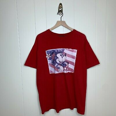 $17.89 • Buy VTG Disney Store Exclusive Minnie Mouse Stamp Graphic Tee Shirt Red Size Large