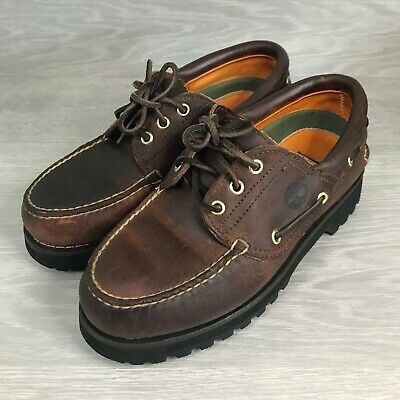 £59.99 • Buy Rare Timberland Leather Boat / Deck Shoes Gore-Tex Made In USA Vibram - UK 6.5