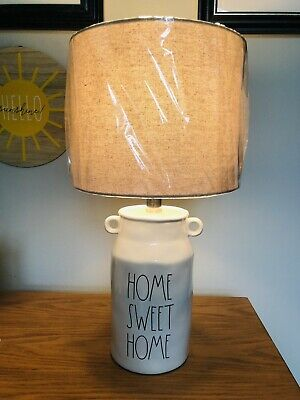 """$75 • Buy 🔥Rae Dunn """"HOME SWEET HOME"""" Lamp Vintage Milk Can Shaped NWT GORGE"""