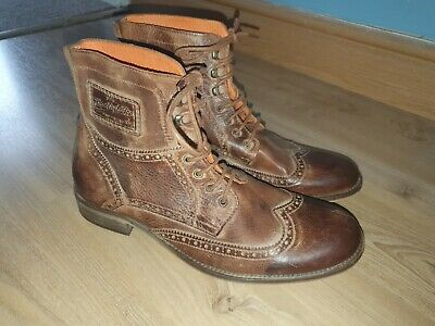 $55.58 • Buy SuperDry Brad Brogue Distressed Look Leather Brown  Boots UK SIZE 10 EU 44