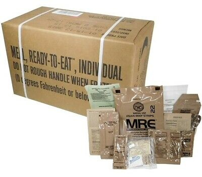 $90 • Buy 12ct Case MRE Meals Ready-to-eat US Military Surplus