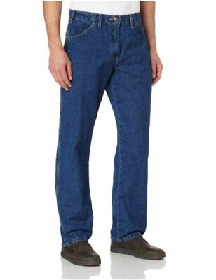 $12.49 • Buy Dickies Men's Relaxed Straight-Fit Carpenter Jean, Indigo Blue, Size 38W X 32L