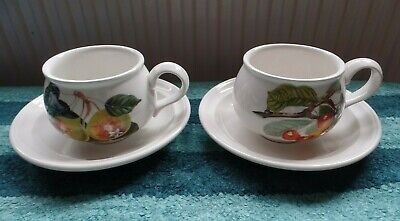 £13.99 • Buy Two Portmeirion Pomona Small Cups And Saucers First Quality