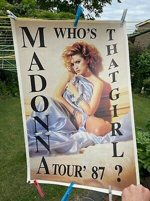 £20 • Buy Madonna Who's That Girl Poster From 1987